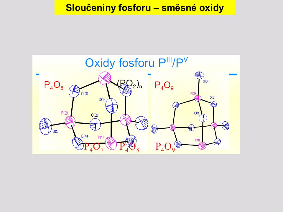 Sloučeniny fosforu – směsné oxidy