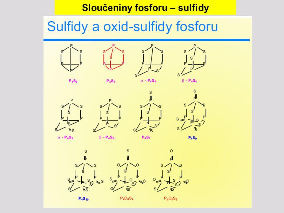 Sloučeniny fosforu – sulfidy