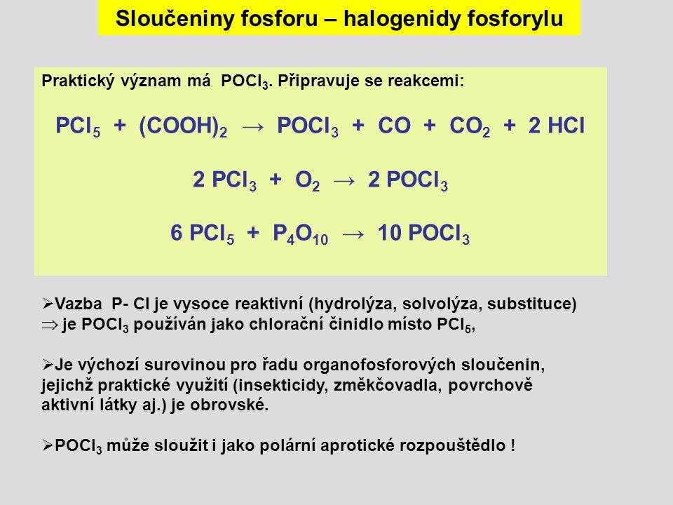 Sloučeniny fosforu – halogenidy fosforylu