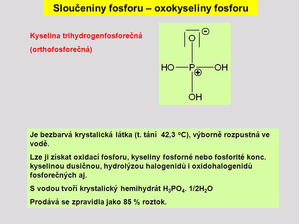 Sloučeniny fosforu – oxokyseliny fosforu