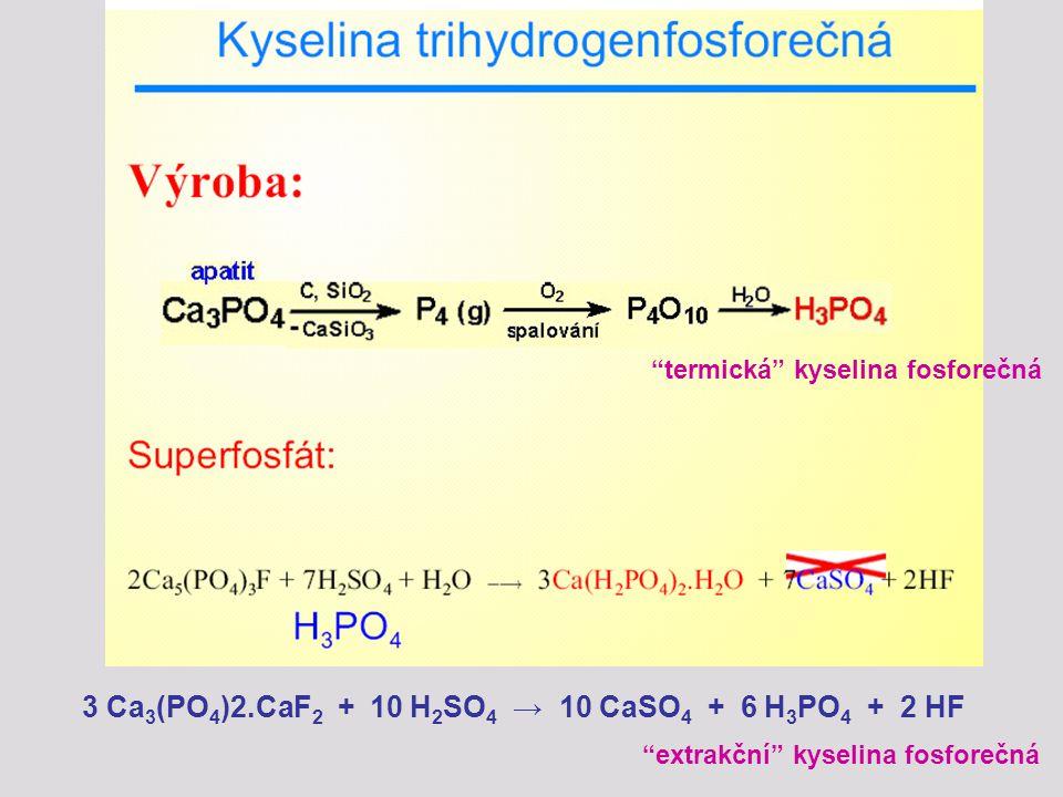 3 Ca3(PO4)2.CaF2 + 10 H2SO4 → 10 CaSO4 + 6 H3PO4 + 2 HF