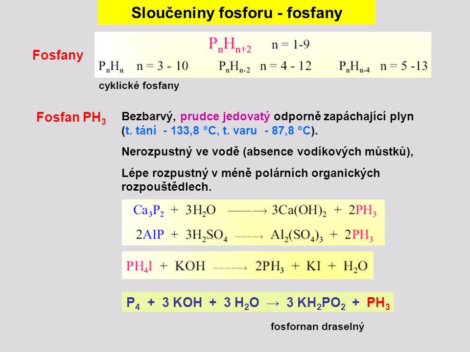 Sloučeniny fosforu - fosfany