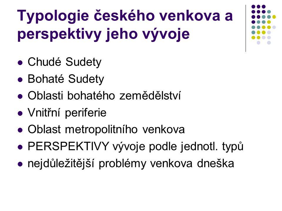 Typologie českého venkova a perspektivy jeho vývoje