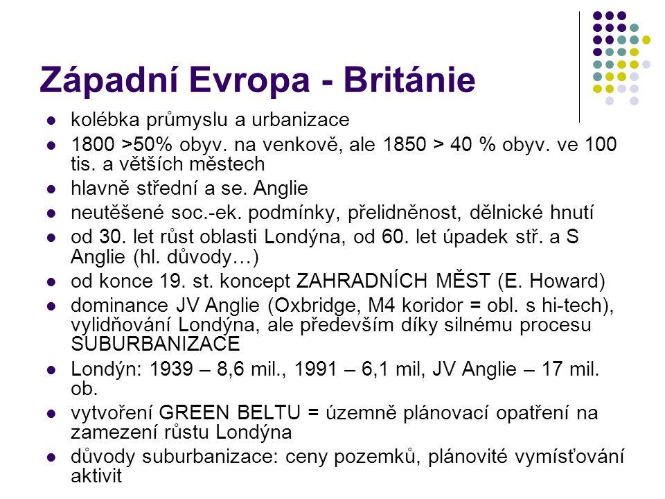 Západní Evropa - Británie