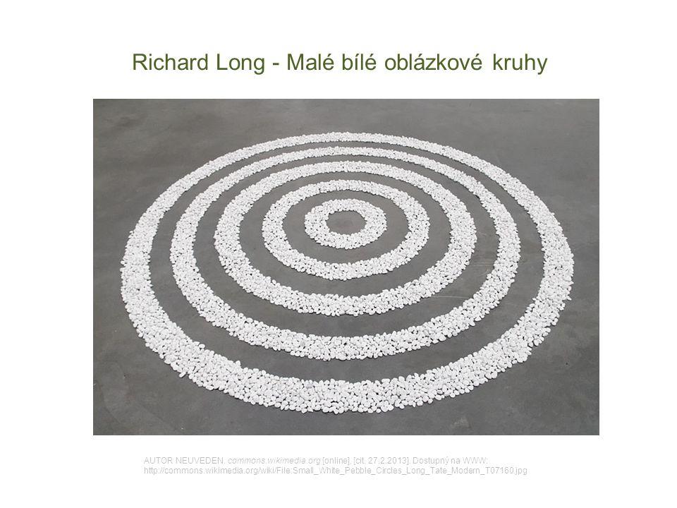 Richard Long - Malé bílé oblázkové kruhy