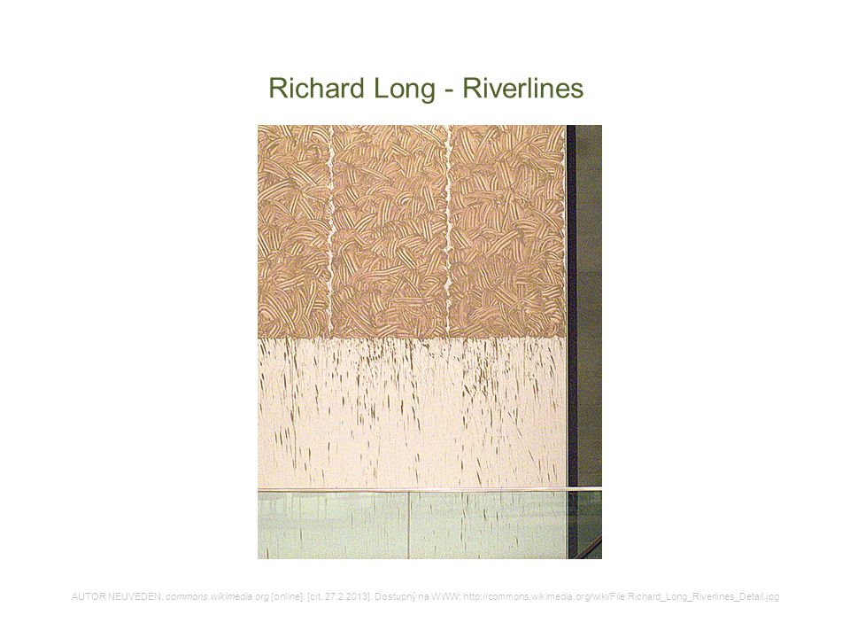Richard Long - Riverlines