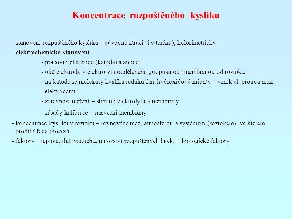 Koncentrace rozpuštěného kyslíku