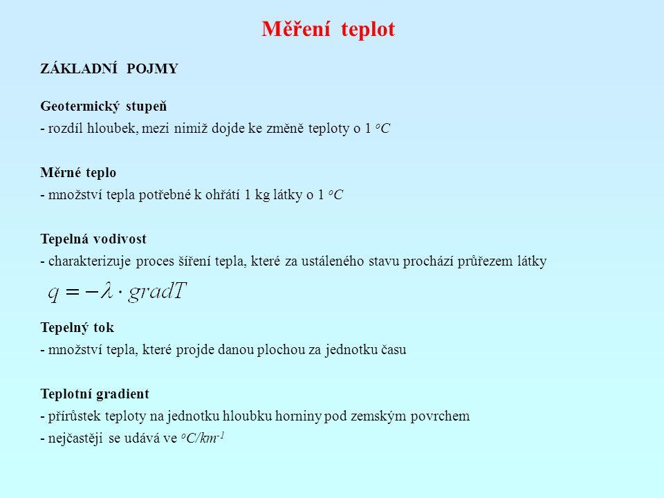 Měření teplot ZÁKLADNÍ POJMY Geotermický stupeň