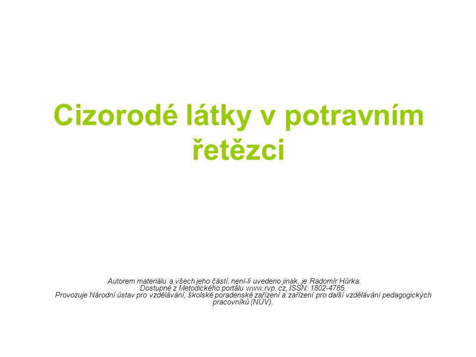 Cizorodé látky v potravním řetězci