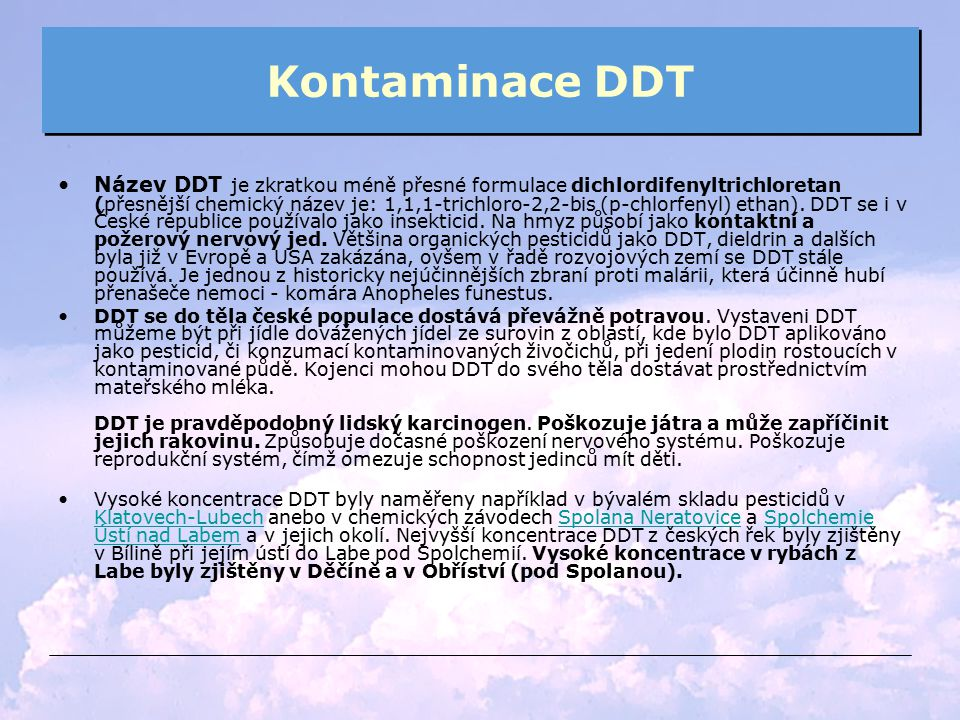 Kontaminace DDT
