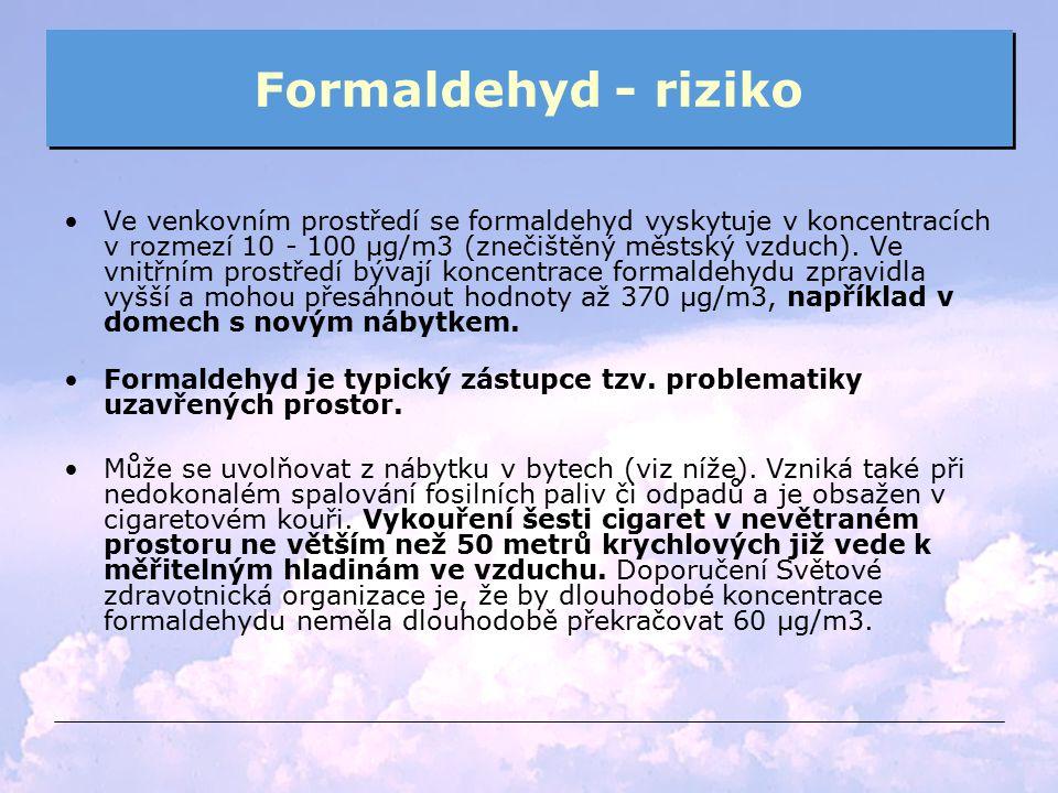Formaldehyd - riziko