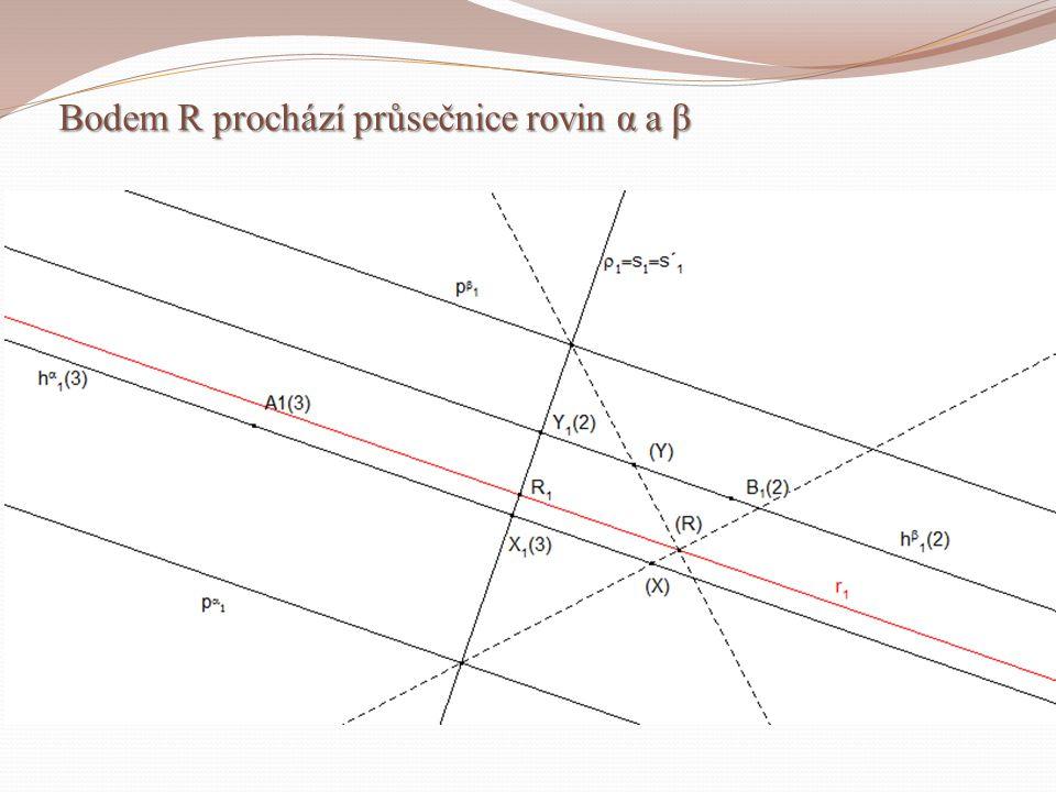 Bodem R prochází průsečnice rovin α a β