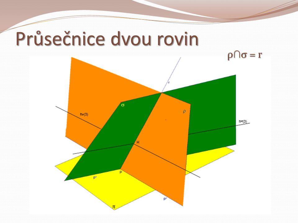 Průsečnice dvou rovin ρ∩σ = r