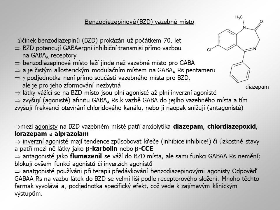 Benzodiazepinové (BZD) vazebné místo