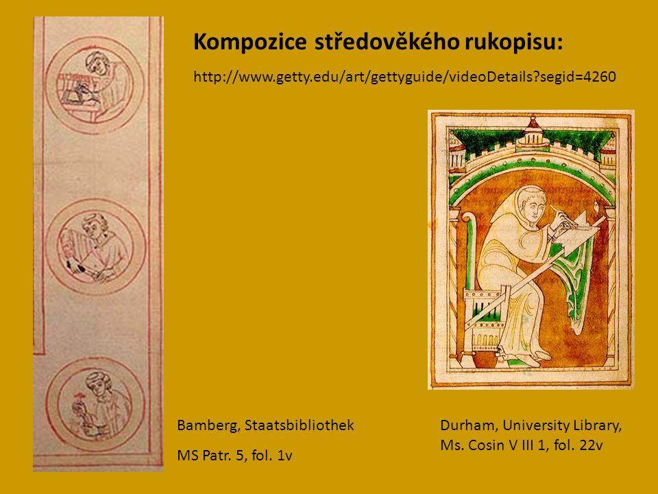 Kompozice středověkého rukopisu: