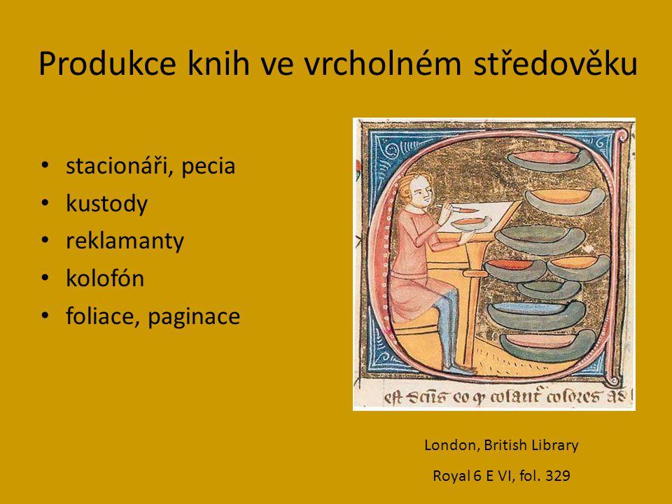 Produkce knih ve vrcholném středověku