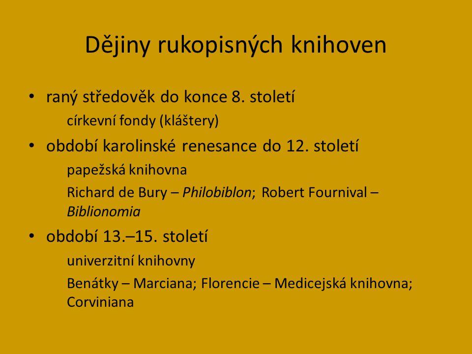 Dějiny rukopisných knihoven