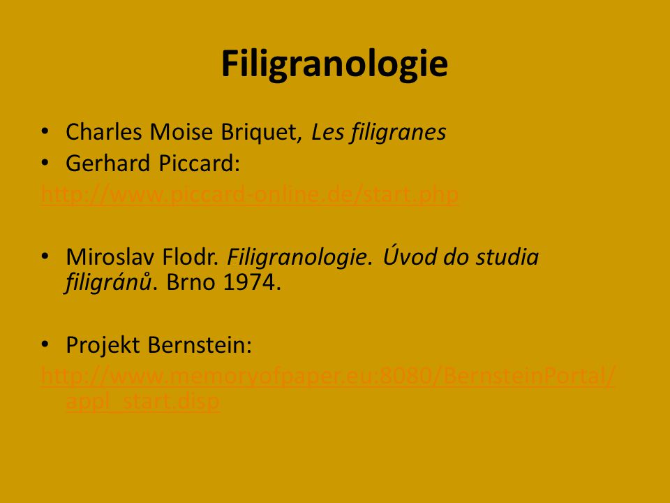 Filigranologie Charles Moise Briquet, Les filigranes Gerhard Piccard: