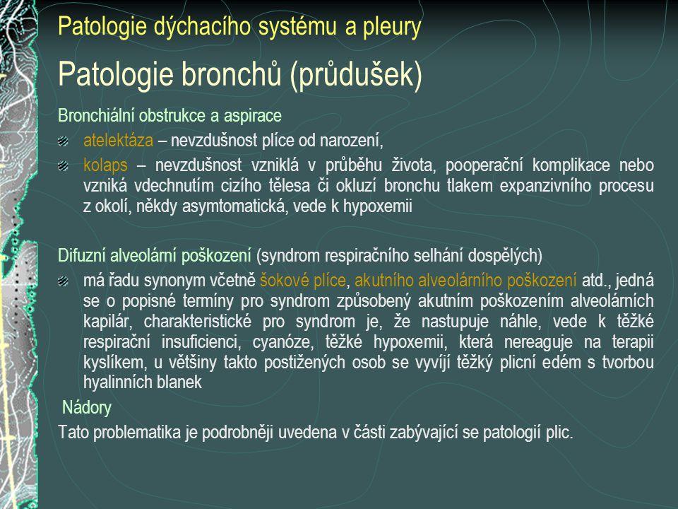 Patologie bronchů (průdušek)
