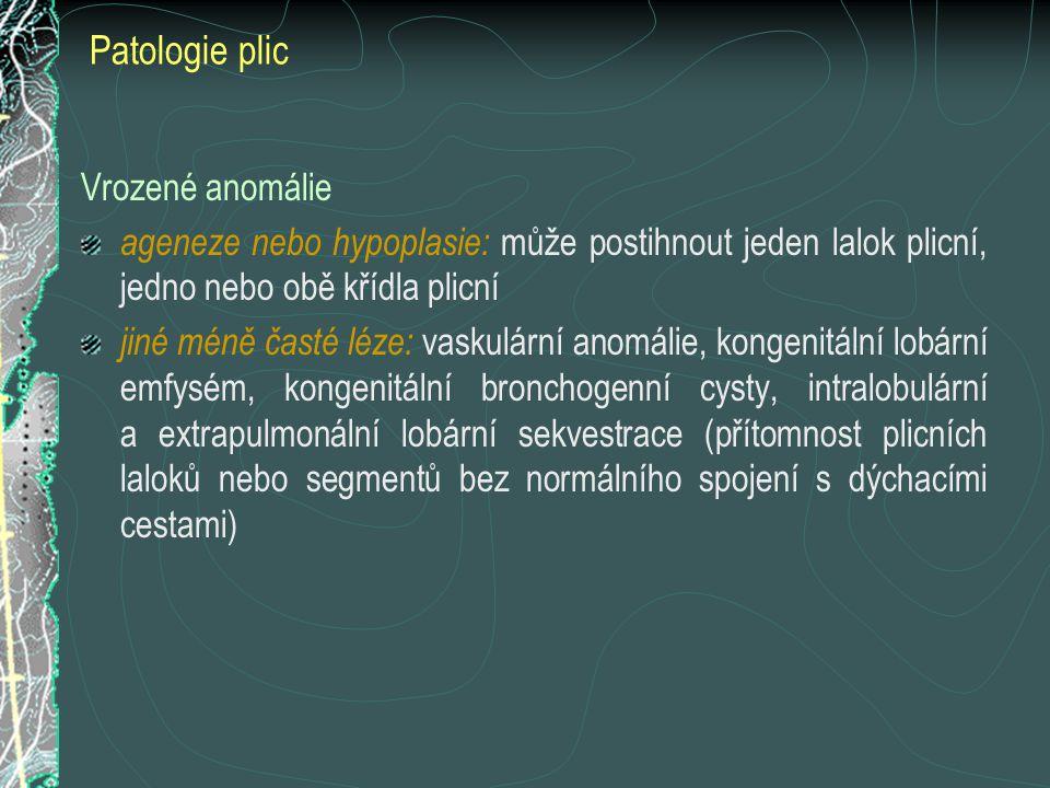 Patologie plic Vrozené anomálie