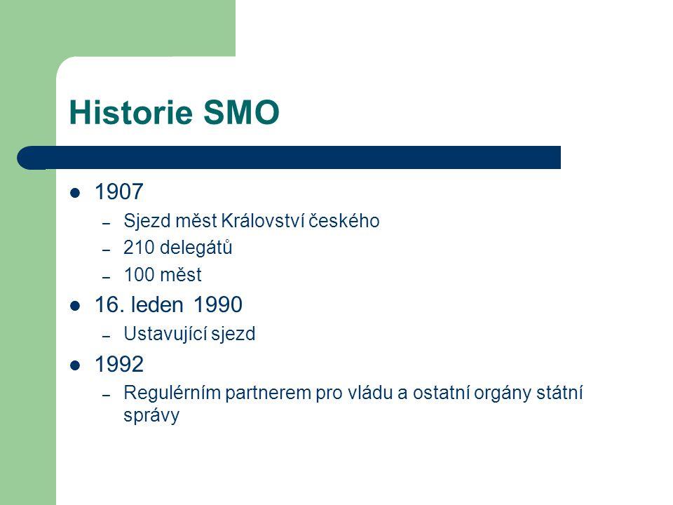 Historie SMO 1907 16. leden 1990 1992 Sjezd měst Království českého
