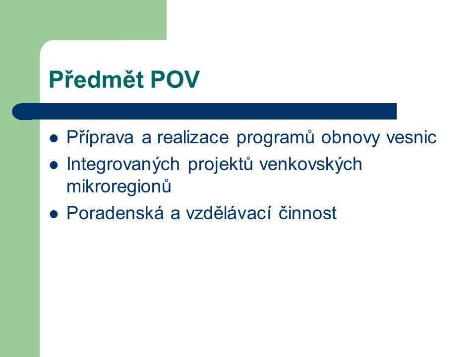 Předmět POV Příprava a realizace programů obnovy vesnic