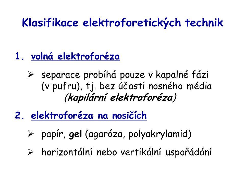 Klasifikace elektroforetických technik
