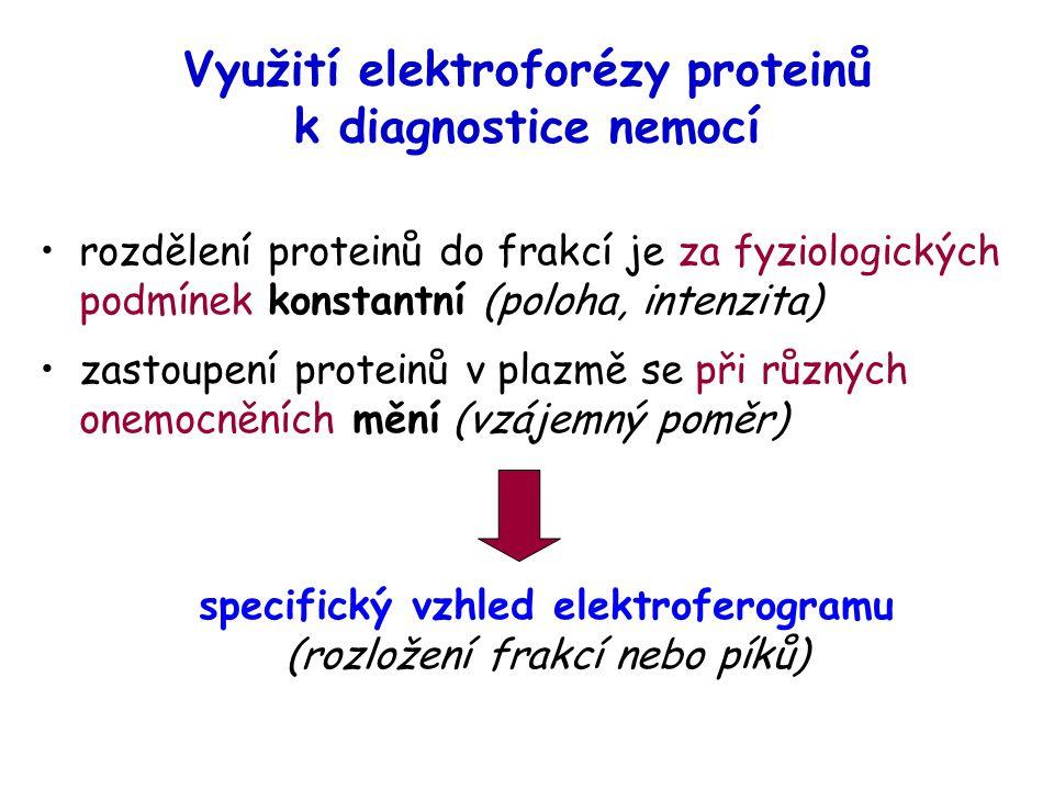Využití elektroforézy proteinů k diagnostice nemocí