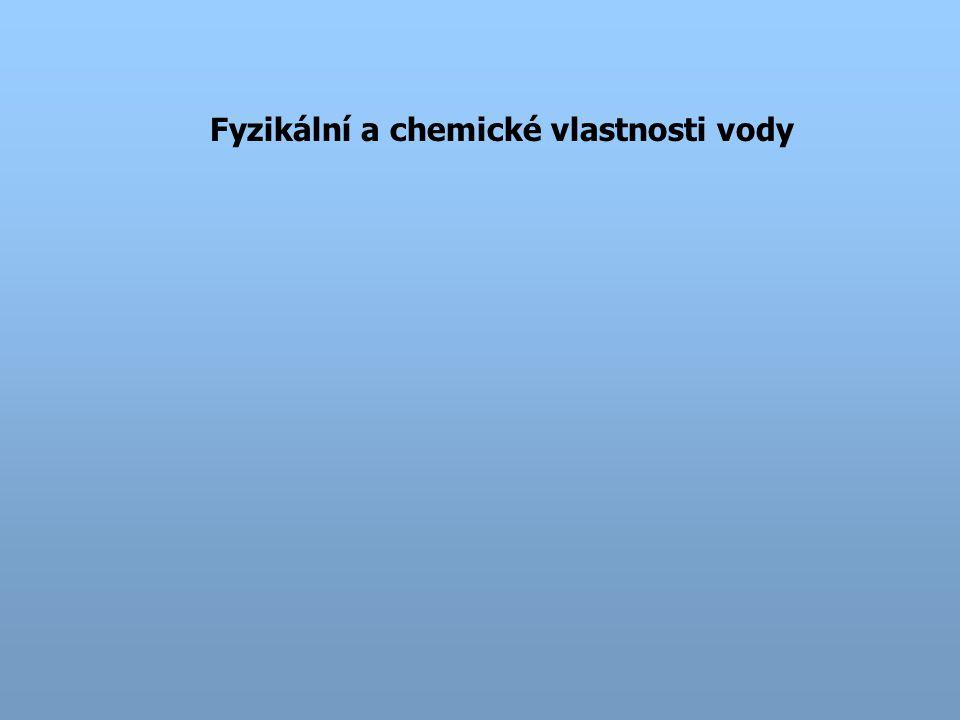 Fyzikální a chemické vlastnosti vody