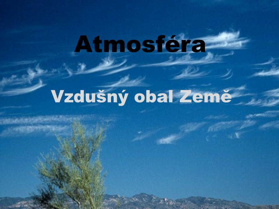 Atmosféra Vzdušný obal Země