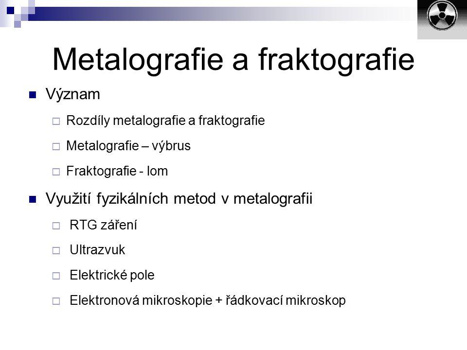 Metalografie a fraktografie