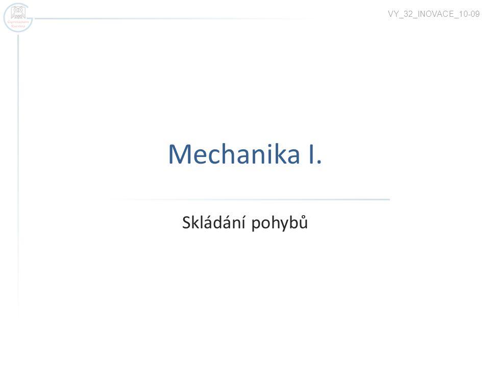 VY_32_INOVACE_10-09 Mechanika I. Skládání pohybů