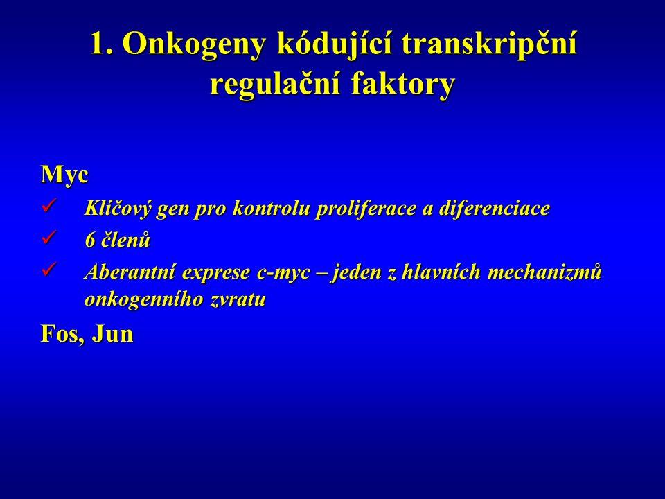 1. Onkogeny kódující transkripční regulační faktory