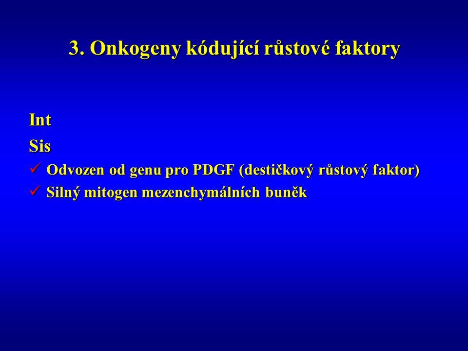 3. Onkogeny kódující růstové faktory