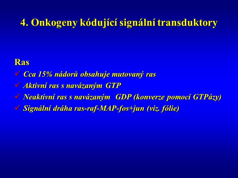 4. Onkogeny kódující signální transduktory