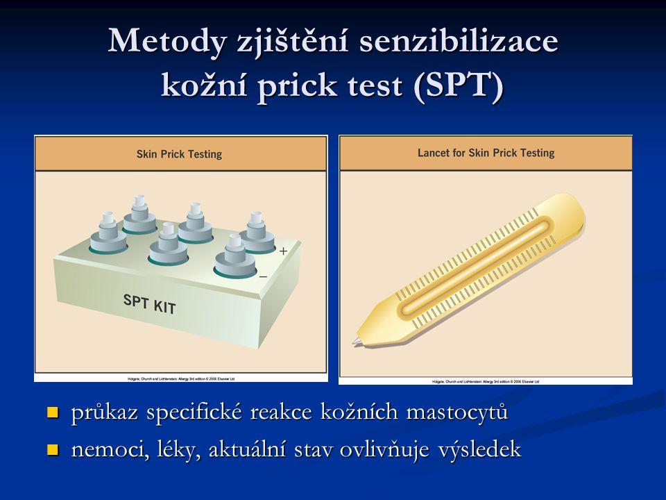 Metody zjištění senzibilizace kožní prick test (SPT)