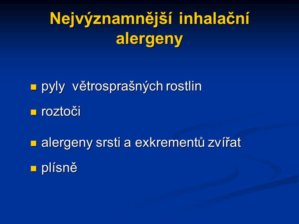 Nejvýznamnější inhalační alergeny