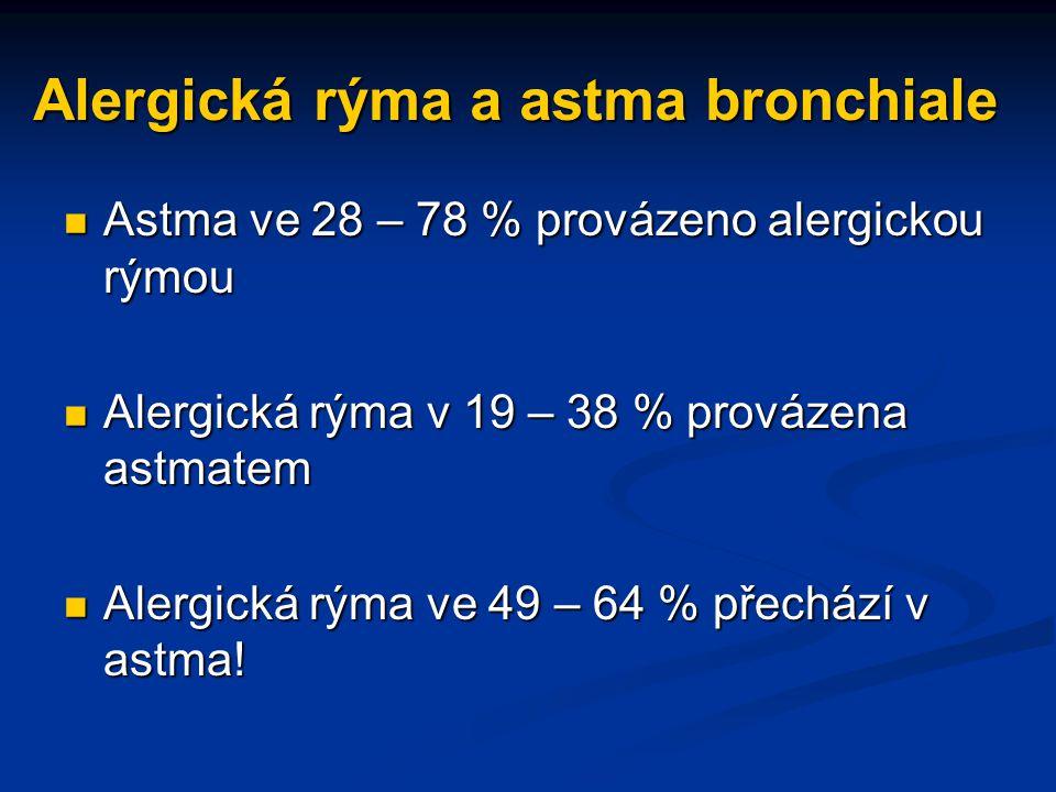 Alergická rýma a astma bronchiale