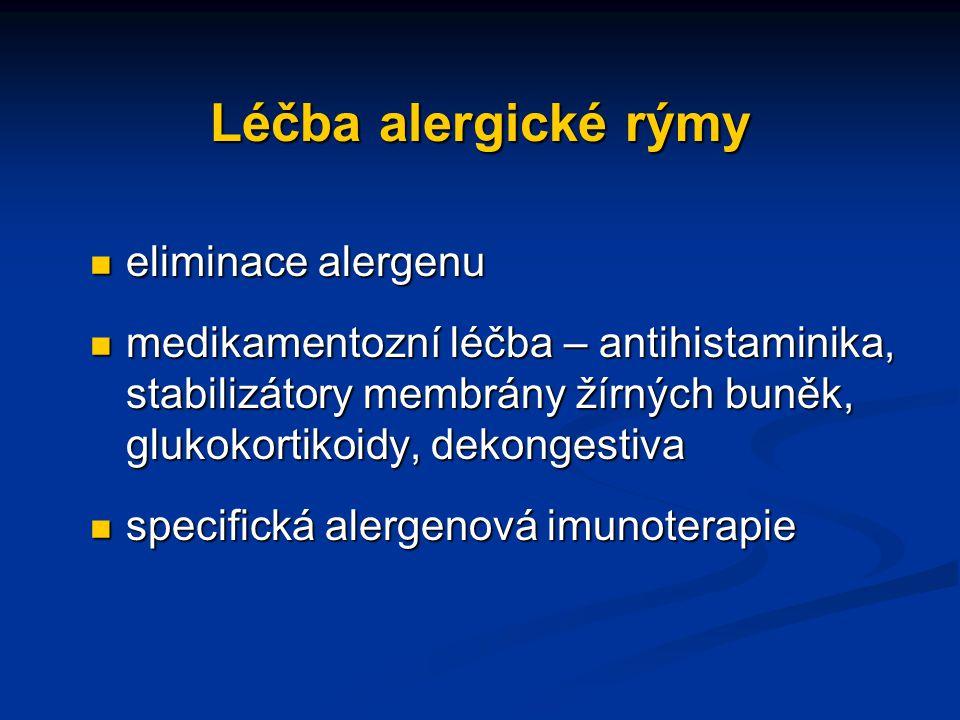 Léčba alergické rýmy eliminace alergenu