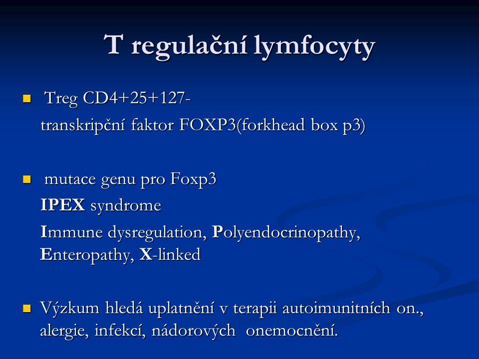 T regulační lymfocyty Treg CD4+25+127-