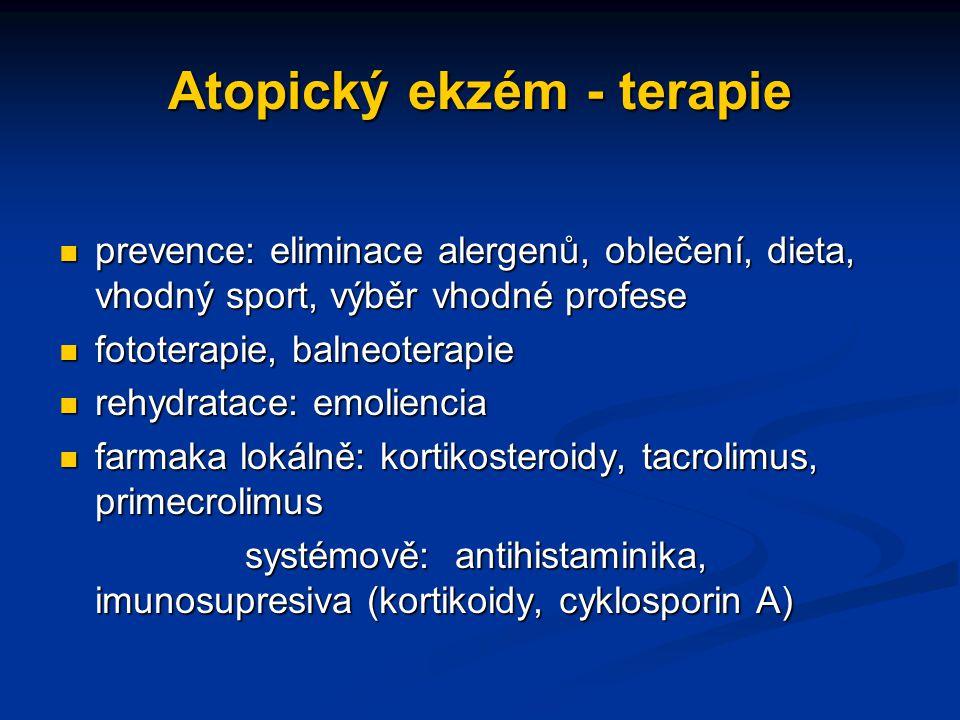 Atopický ekzém - terapie