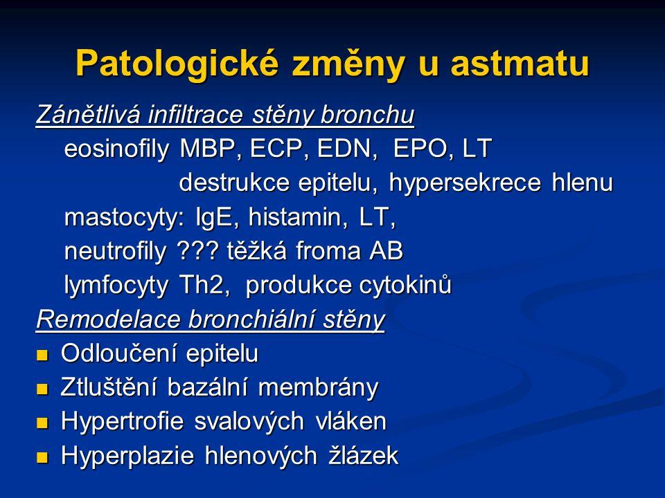 Patologické změny u astmatu