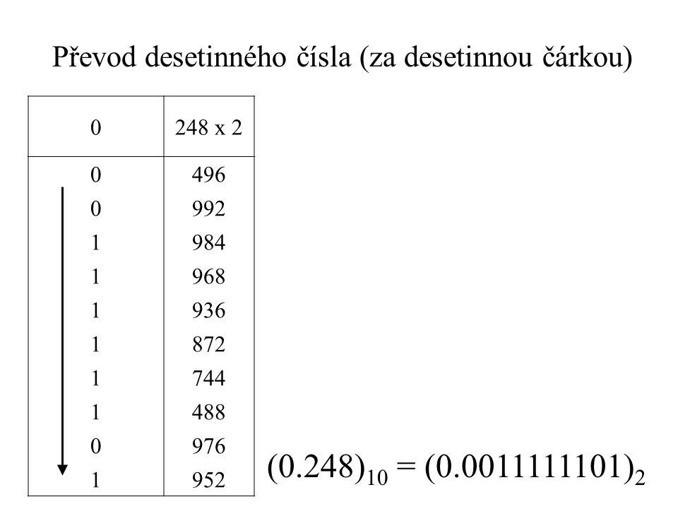 Převod desetinného čísla (za desetinnou čárkou)