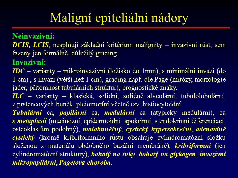 Maligní epiteliální nádory