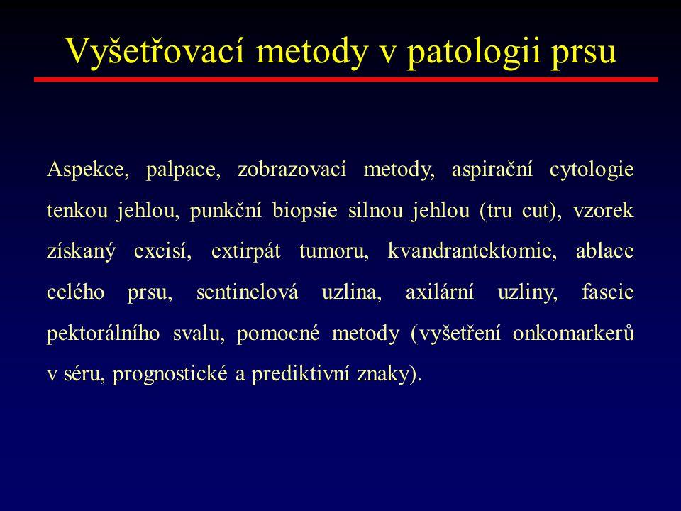 Vyšetřovací metody v patologii prsu