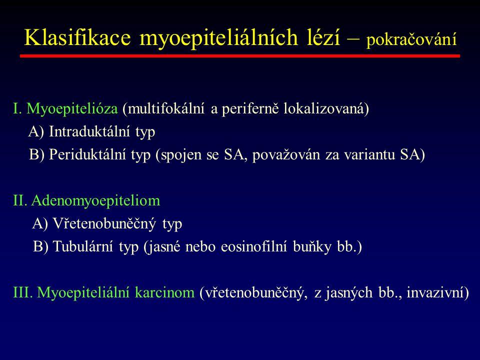 Klasifikace myoepiteliálních lézí – pokračování