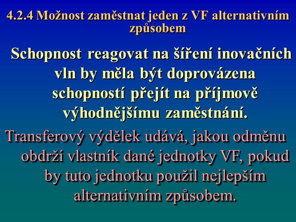 4.2.4 Možnost zaměstnat jeden z VF alternativním způsobem
