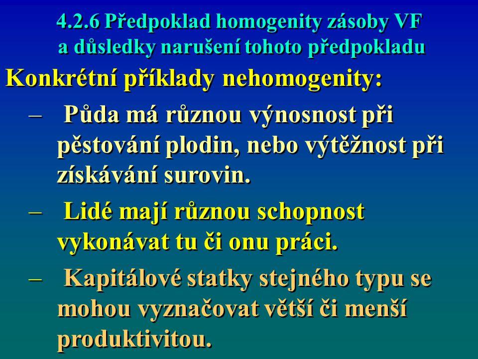 Konkrétní příklady nehomogenity: