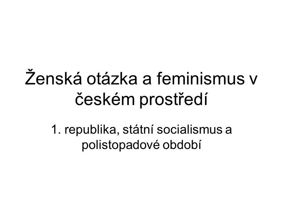 Ženská otázka a feminismus v českém prostředí