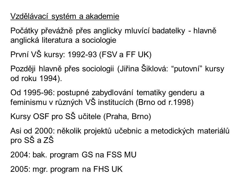 Vzdělávací systém a akademie